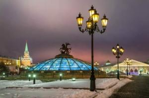 Манежная площадь зимой
