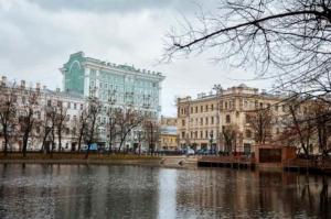 Чистые пруды Москва осенью
