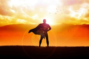 Супергерой на закате